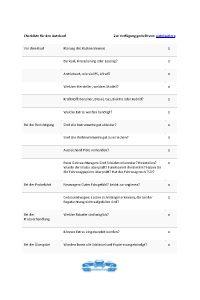 Checkliste für den Autokauf